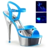DELIGHT-609NC Neon Blue/Silver Chrome
